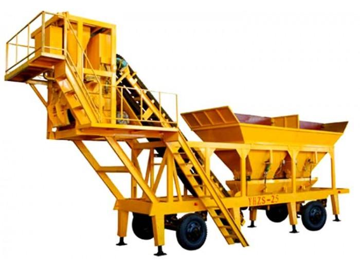 YHZS series mobile concrete mixing plant